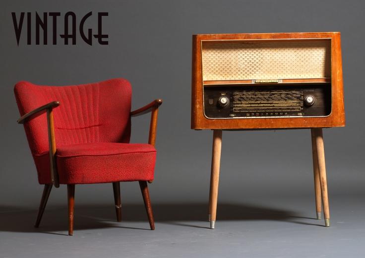 A page de présentation du style vintage