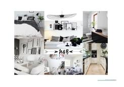 B_Aménagement d'un appartement_planche tendance noir et blanc