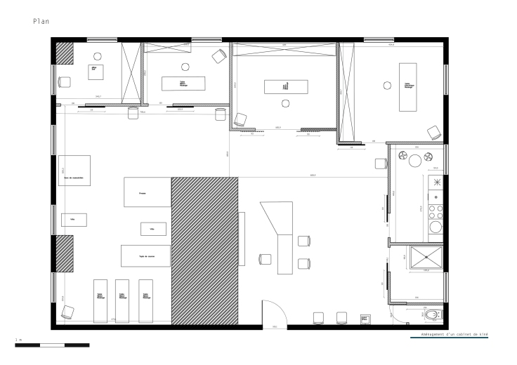 B_Aménagement d'un cabinet de kine_plan