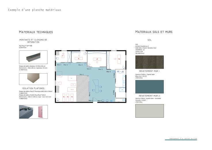 C_Aménagement d'un cabinet de kine_planche matériaux