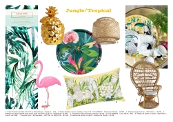 planche objets jungle tropical