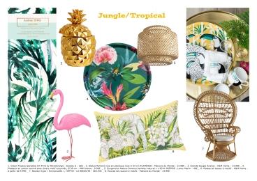 planche objets jungle tropical