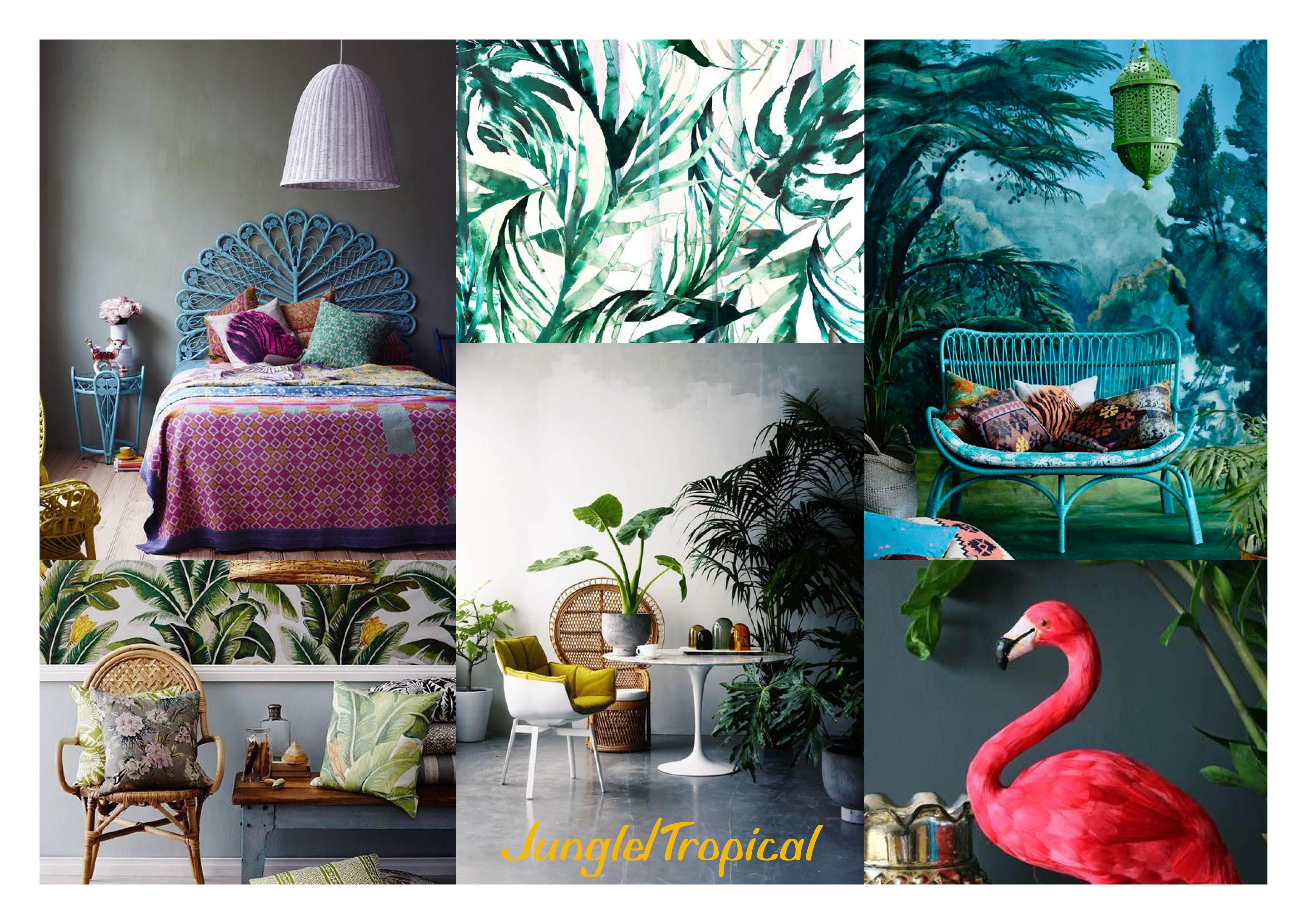 Planche Tendances Jungle Tropicale Sans Carte De Visite 2